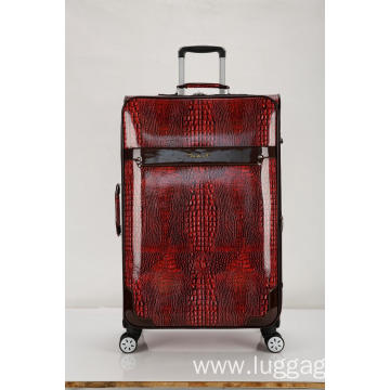 PU Leather 360 Degree Wheels Trolley Luggage